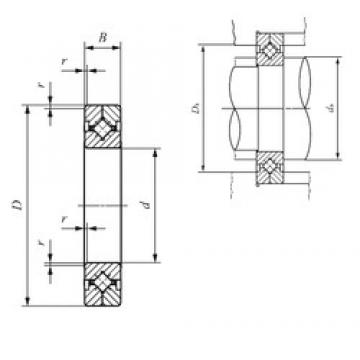 400 mm x 580 mm x 70 mm  IKO CRBC 600120 thrust roller bearings
