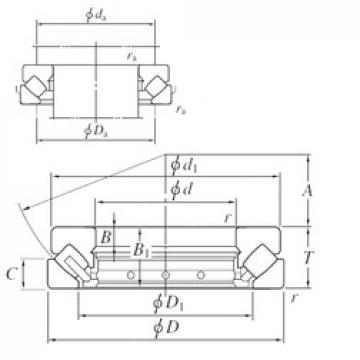 170 mm x 340 mm x 37 mm  KOYO 29434R thrust roller bearings