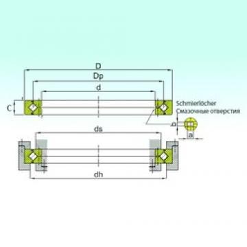 130 mm x 190 mm x 25 mm  ISB RE 13025 thrust roller bearings