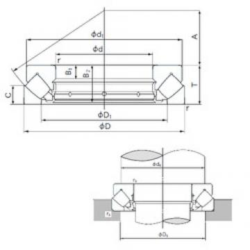 200 mm x 400 mm x 43 mm  NACHI 29440E thrust roller bearings