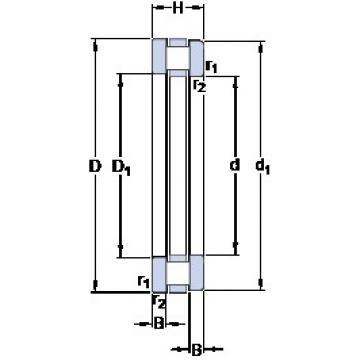 340 mm x 460 mm x 29 mm  SKF 81268 M thrust roller bearings