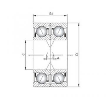 ISO 7006 ADF angular contact ball bearings