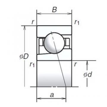 10 mm x 26 mm x 8 mm  NSK 10BGR10H angular contact ball bearings