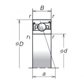35 mm x 55 mm x 13 mm  NSK 35BNR29XV1V angular contact ball bearings