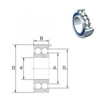 12 mm x 32 mm x 15,9 mm  ZEN 3201-2RS angular contact ball bearings