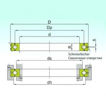 340 mm x 420 mm x 38 mm  ISB SX 011868 thrust roller bearings