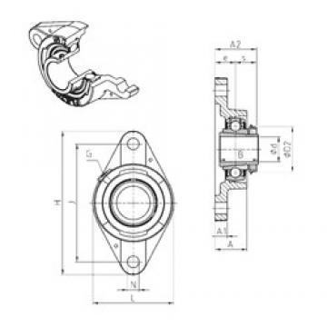 SNR UKFLE209H bearing units
