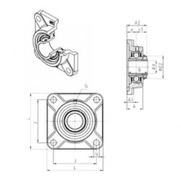 SNR UKF316H bearing units