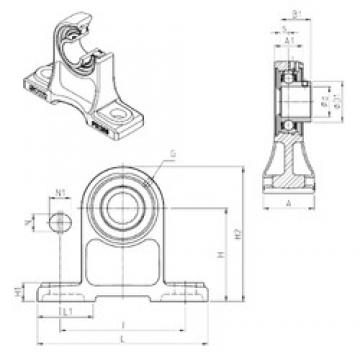 SNR USPH208 bearing units