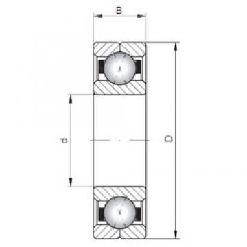 ISO Q248 angular contact ball bearings