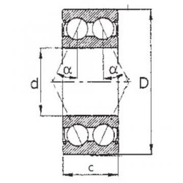 65 mm x 120 mm x 38,1 mm  FBJ 5213ZZ angular contact ball bearings