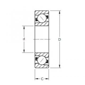 110 mm x 240 mm x 50 mm  Timken 7322WN MBR angular contact ball bearings