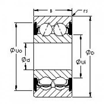AST 5205-2RS angular contact ball bearings