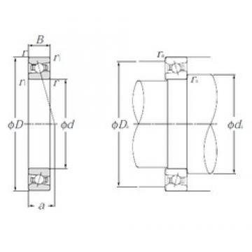 55 mm x 90 mm x 18 mm  NTN HSB011C angular contact ball bearings