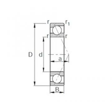 20 mm x 52 mm x 15 mm  CYSD 7304 angular contact ball bearings