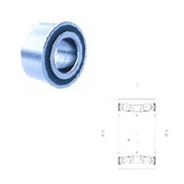 42 mm x 76 mm x 39 mm  Fersa F16194 angular contact ball bearings