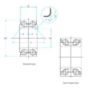35 mm x 66 mm x 37 mm  Timken 513021 angular contact ball bearings