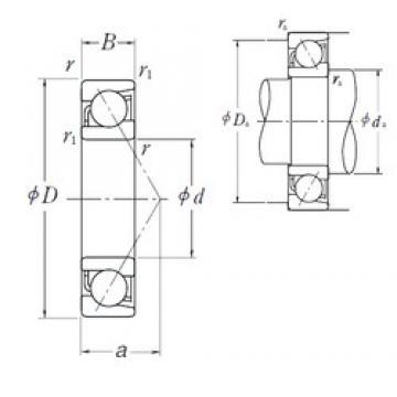 130 mm x 280 mm x 58 mm  NSK 7326 B angular contact ball bearings