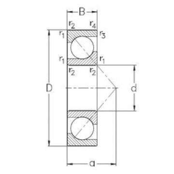 25 mm x 52 mm x 15 mm  NKE 7205-BECB-MP angular contact ball bearings
