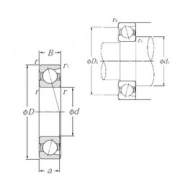 75 mm x 130 mm x 25 mm  NTN 7215C angular contact ball bearings