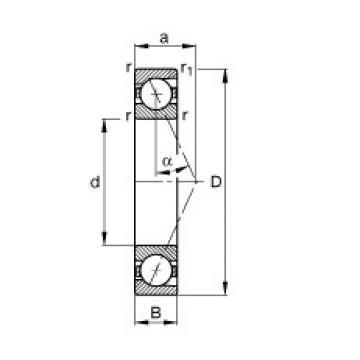 17 mm x 30 mm x 7 mm  FAG B71903-E-T-P4S angular contact ball bearings