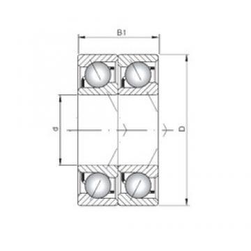 ISO 7013 BDT angular contact ball bearings